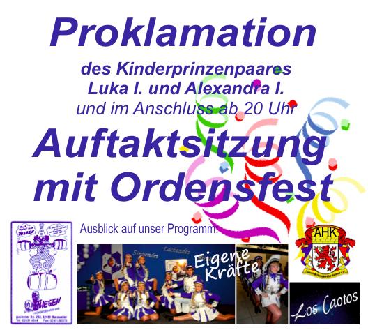 Plakat Auftaktsitzung 2016