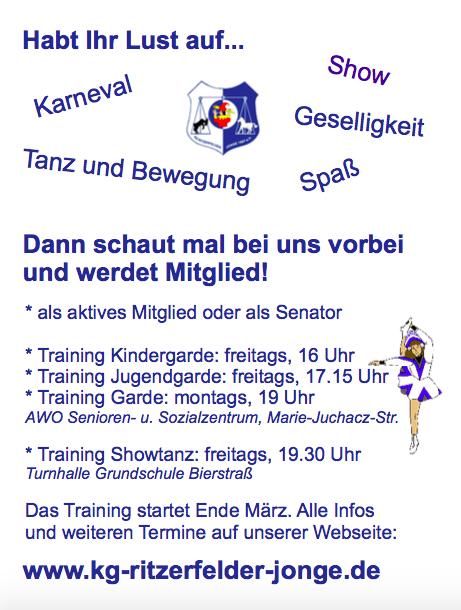 Flyer zu unseren Trainingszeiten