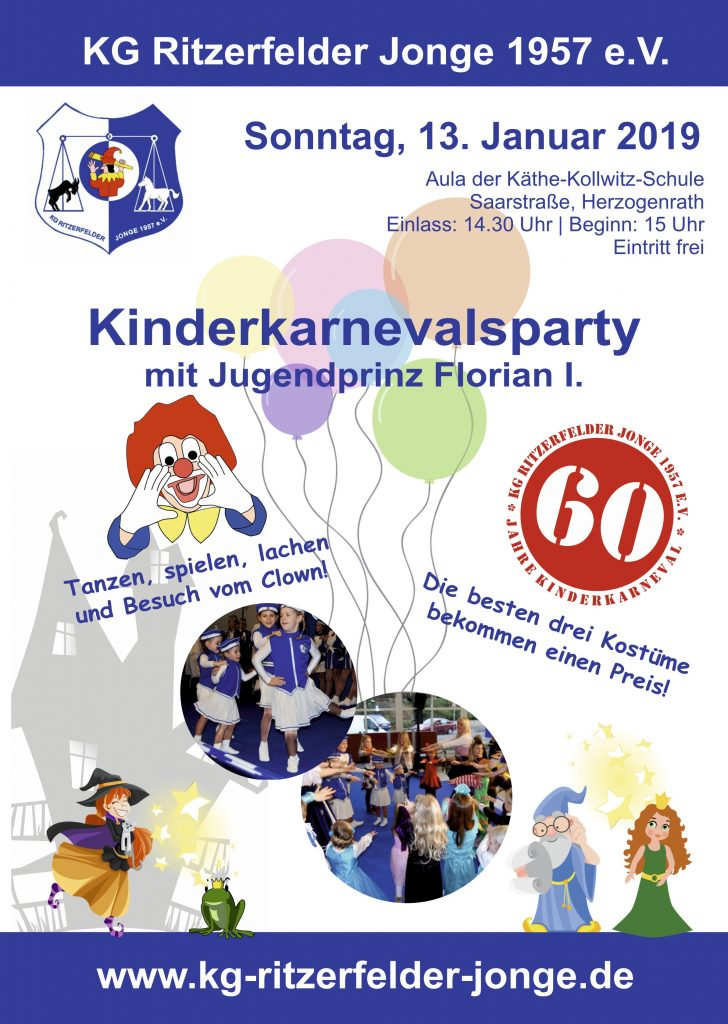 Plakat Kinderkarnevalsparty 2019