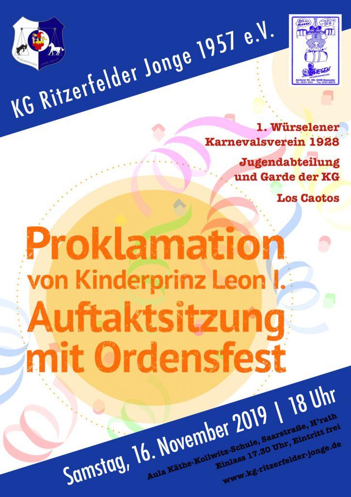 Proklamation und Auftaktsitzung @ Aula Käthe-Kollwitz-Schule